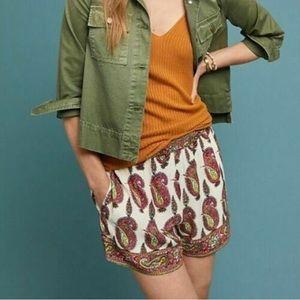 Ett:twa by Anthropologie Paisley Print Shorts